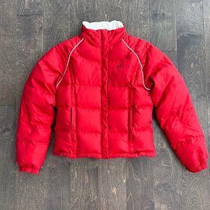 Adidas Red Puffer Winter Coat